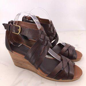 NWOT Lucky Brand kalistoga leather wedge sandal